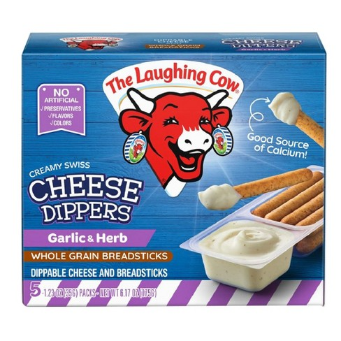 The Laughing Cow Creamy White Cheddar Flavored Cheese Dippers - 5pk - image 1 of 1