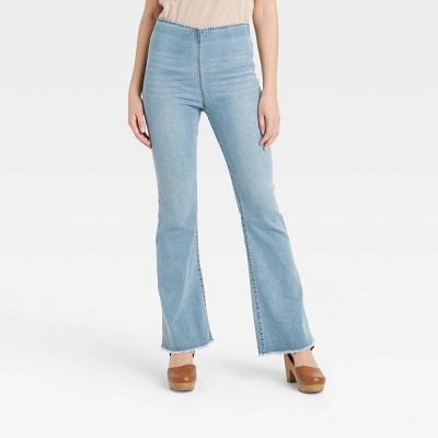 Women's High-Rise Flare Denim Pants - Knox Rose™
