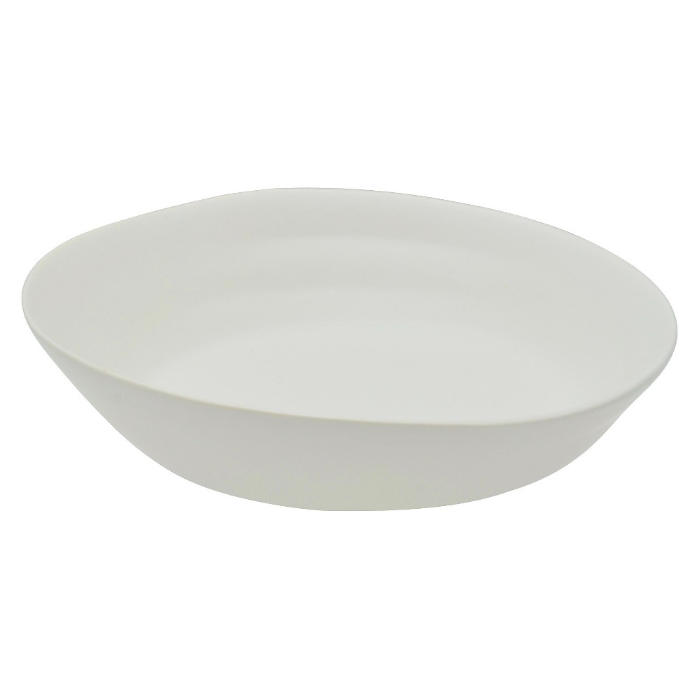 Image of 10 Strawberry Street Matte Wave Stoneware Side Bowls 10oz White - Set of 6