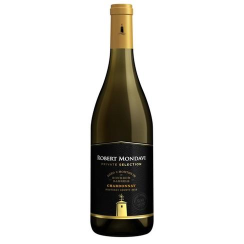 Robert Mondavi Private Selection Bourbon Chardonnay White Wine - 750ml Bottle - image 1 of 3