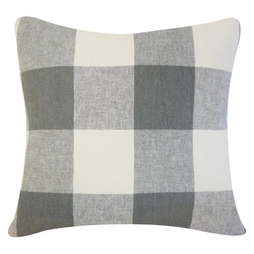 Buffalo Check Throw Pillow Coal (Grey) (20