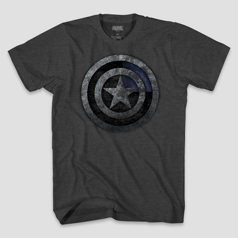 Men's Marvel Tall Captain America Short Sleeve Graphic T-Shirt Charcoal Heather XLT - image 1 of 1