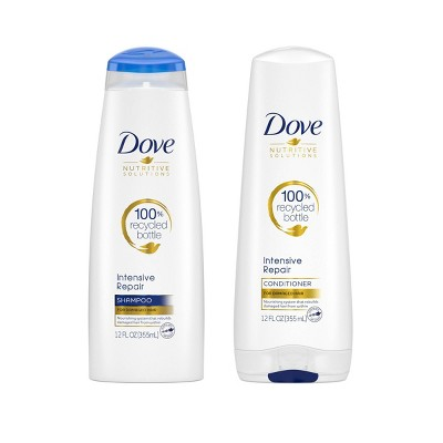Dove Nutritive Solutions Strengthening Shampoo and Conditioner for Damaged Hair Intensive Repair - 12 fl oz/2ct