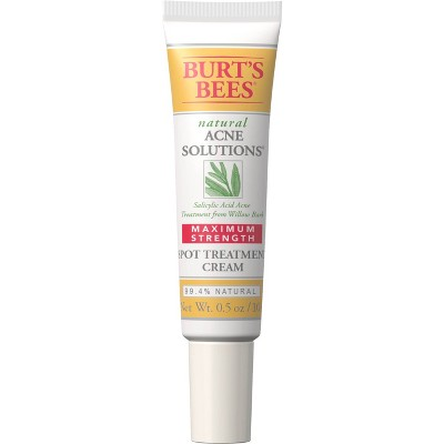 Burt's Bees Natural Acne Solutions Maximum Strength Spot Treatment Cream - 0.5oz