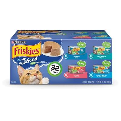 Purina Friskies Seafood Variety Pack Wet Cat Food - 5.5oz cans / 32ct