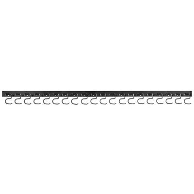 mDesign Metal Adjustable Wall Mount Tool Organizer - Black