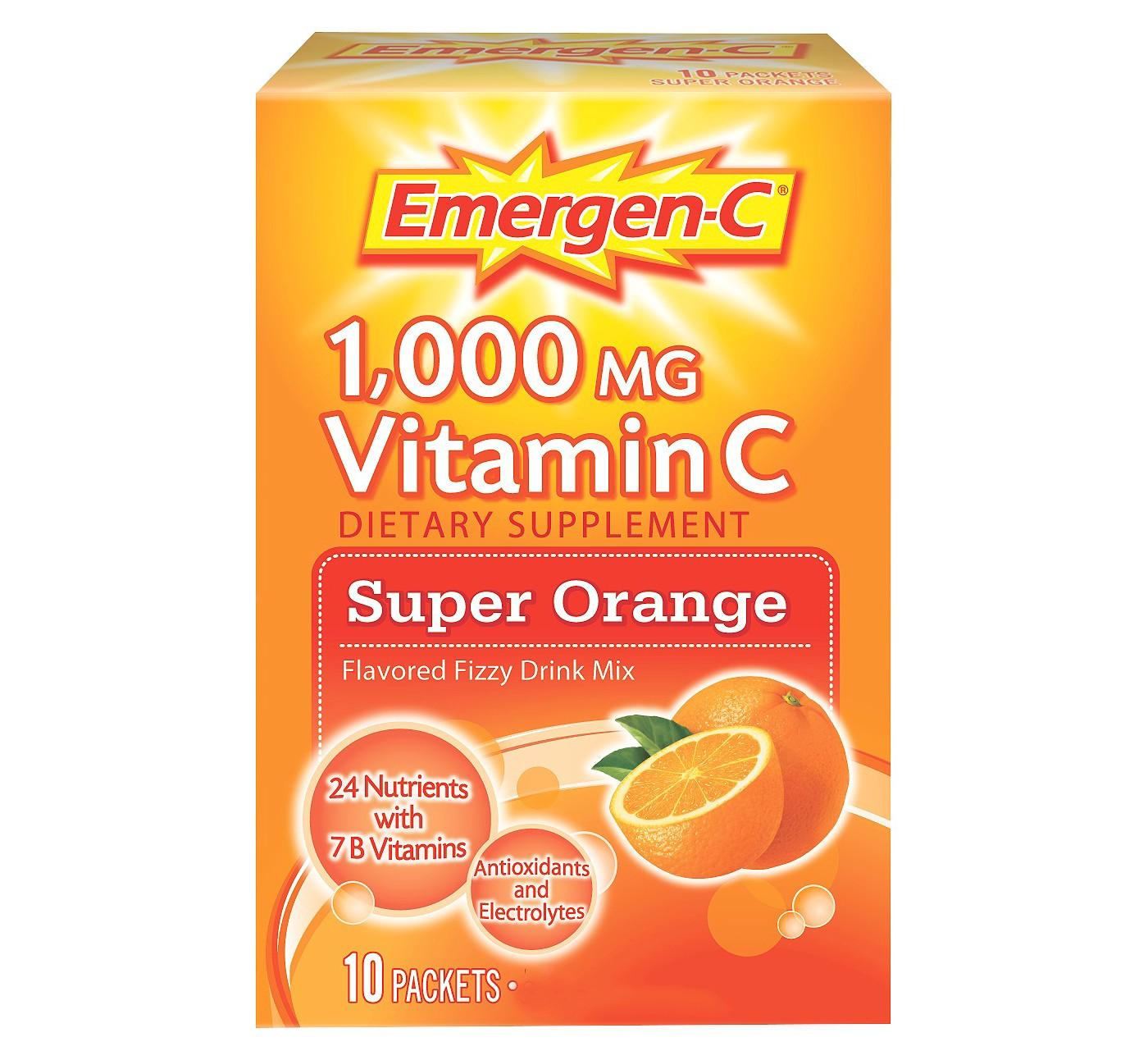Emergen-C Vitamin C Drink Mix - Super Orange - image 1 of 5