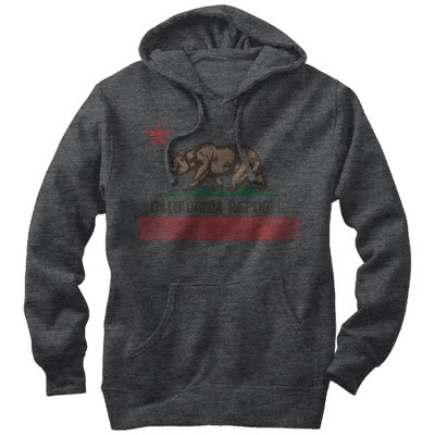 Men's Lost Gods Distressed California Flag Pull Over Hoodie