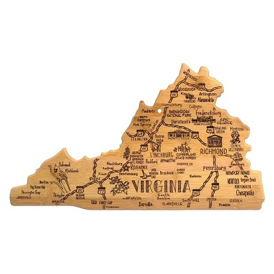 Totally Bamboo Destination Virginia Serving and Cutting Board