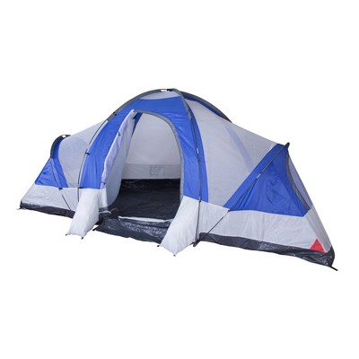 Stansport Grand 18 6 Person 3 Room Family Dome Tent Blue/White