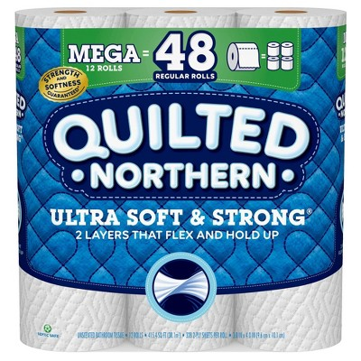 Toilet Paper: Quilted Northern Ultra Soft and Strong