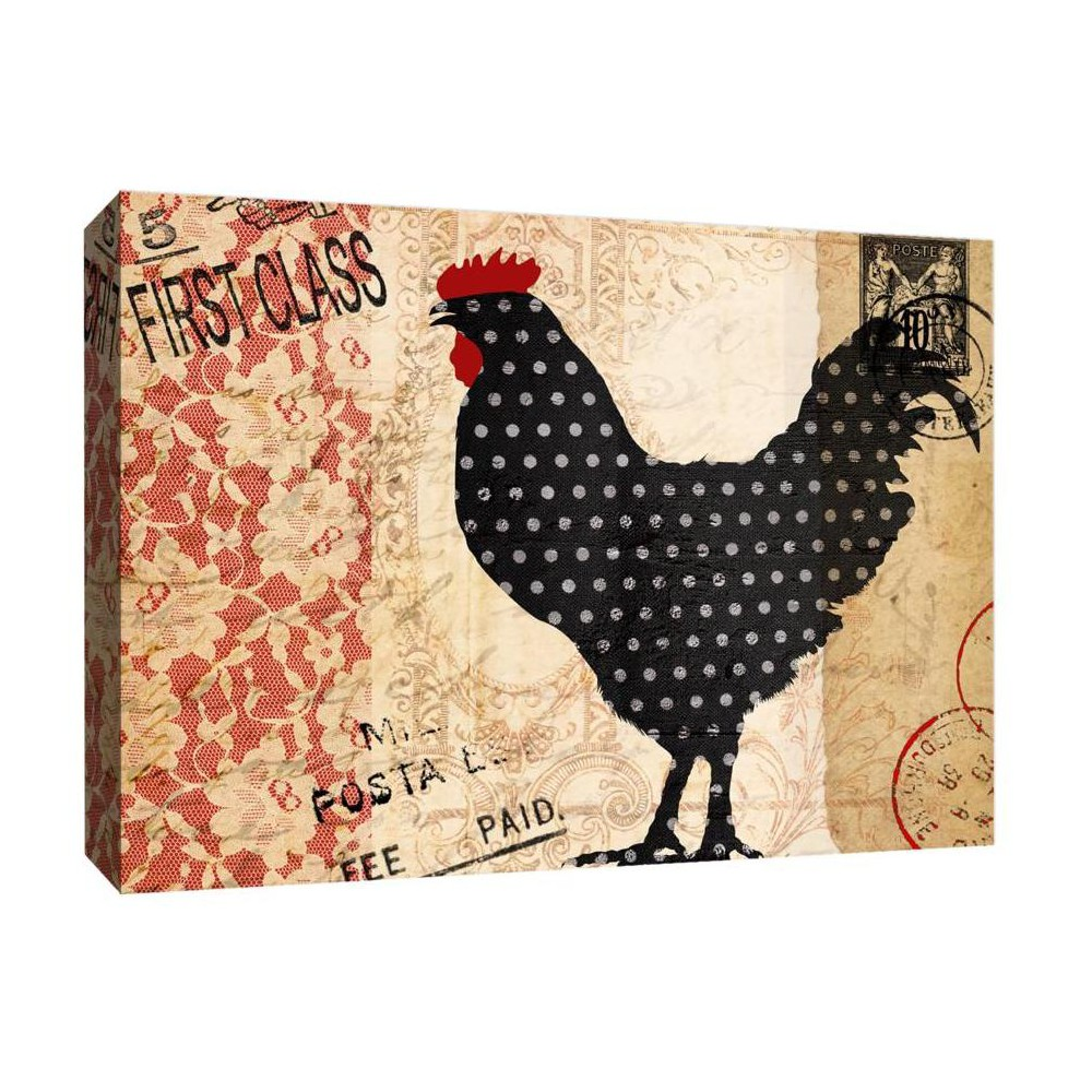 Lucky Rooster II Decorative Canvas Wall Art 11