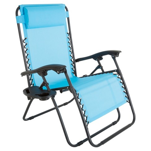 Oversized Zero Gravity Chair With Pillow And Cup Holder - Pure Garden - image 1 of 6