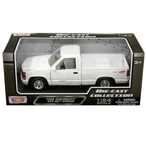 Chevrolet Truck Models >> 1992 Chevrolet 1500 Ss 454 Pickup Truck White 1 24 Diecast Model By
