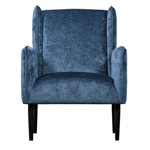 Wondrous Baptiste Wingback Accent Chair Blue Adore Dcor Gamerscity Chair Design For Home Gamerscityorg