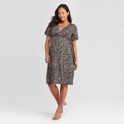 Short Sleeve Knit Wrap Maternity Dress - Isabel Maternity by Ingrid & Isabel™
