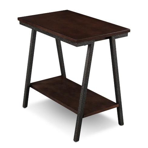 Empiria Modern Narrow Chairside Table Brown Leick Home
