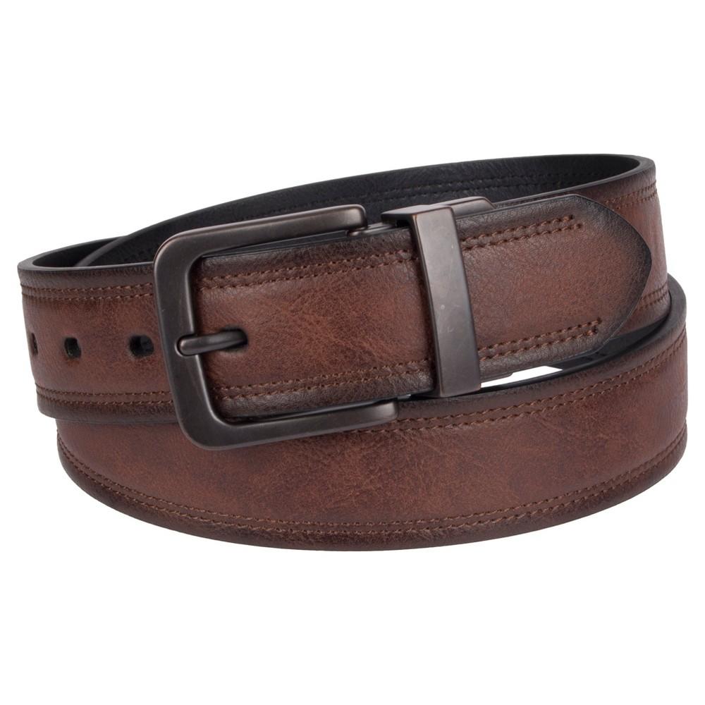 Image of DENIZEN from Levi's Men's Brown Out Reversible Belt - Brown/Black L, Men's, Size: Large, MultiColored
