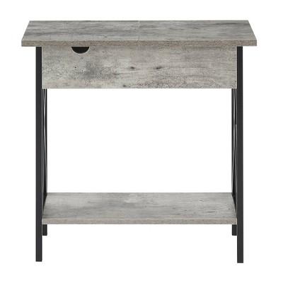 Merveilleux Tucson Electric Flip Top Table Faux Birch White   Johar Furniture