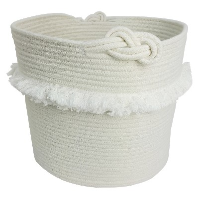 White Rope Basket with Fringe - Pillowfort™