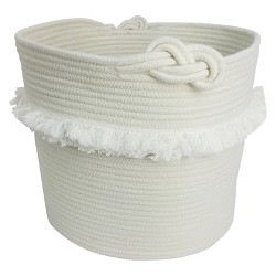 Rope Toy Storage Basket with Fringe Large White - Pillowfort™