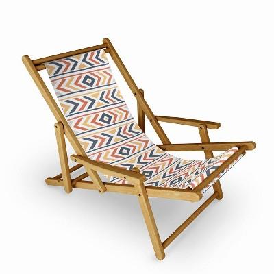 Avenie Boho Horizon Sling Chair - Orange - Deny Designs