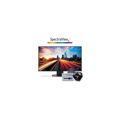 NEC EX241UN 23.8  Widescreen Full HD IPS LED Desktop Monitor with SpectraView II Basic Color Calibration Bundle - image 1 of 1