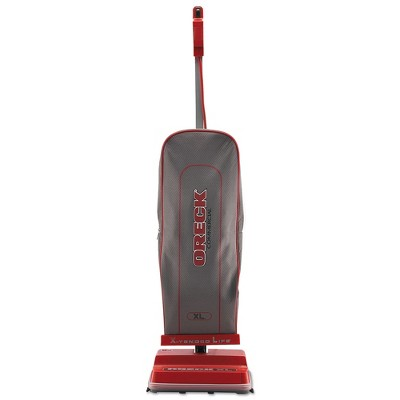 Oreck Commercial U2000RB-1 Commercial 12-1/2 in. x 9-1/4 in. x 47-3/4 in. Upright Vacuum - Red/Gray