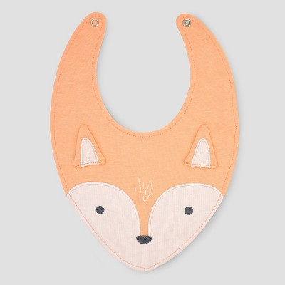 Baby Fox Bib - Cloud Island™ Orange One Size
