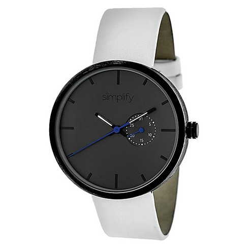 Simplify The 3900 Men's Leather Strap Watch - image 1 of 3