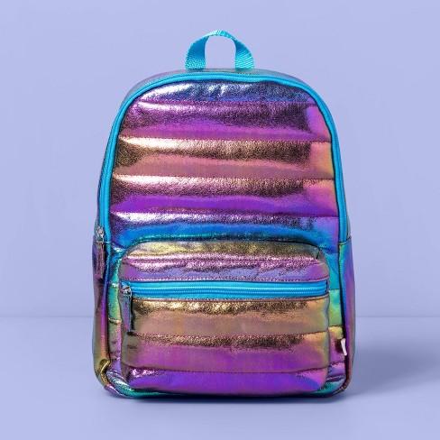 Girls' Iridescent Metallic Backpack - More Than Magic™ - image 1 of 3