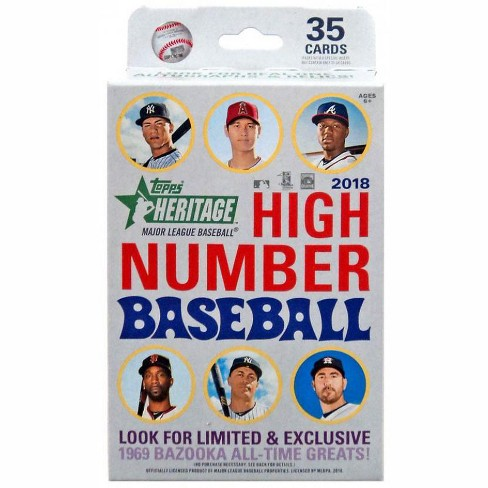 MLB Topps 2018 Heritage Baseball Trading Card HANGER Box [35 Cards] - image 1 of 1