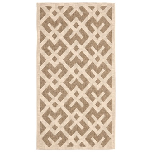 Courtyard Patio Rug Brown / Bone - Safavieh® - image 1 of 1