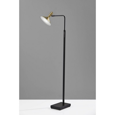 Lucas Floor Lamp (Includes LED Light Bulb) Black - Adesso