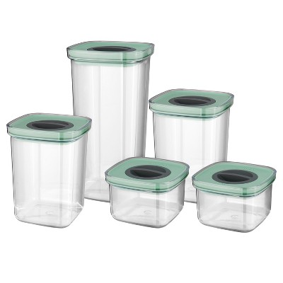 BergHOFF Leo 5 Pc Smart Seal Food Container Set, Green
