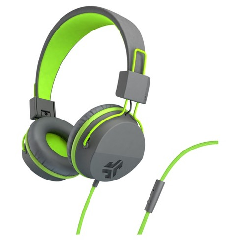 JLab Neon Wired On Ear Headphones with Universal Mic - Gray/Yellow - image 1 of 6