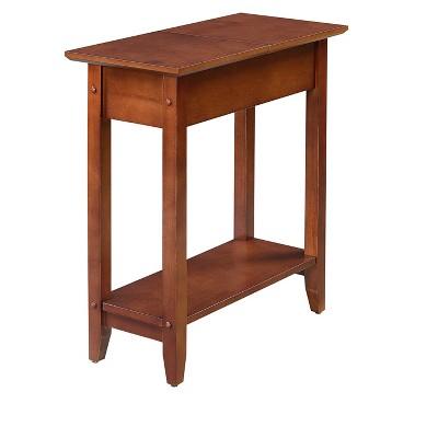 American Heritage Flip Top End Table Mahogany - Breighton Home
