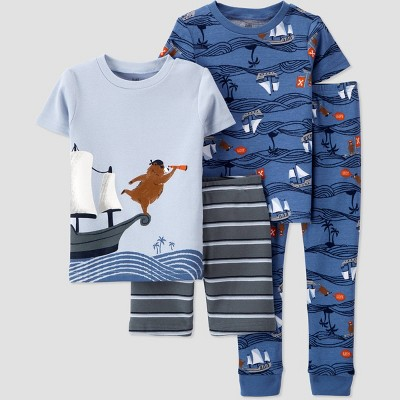 Toddler Boys' 4pc Pirate Bear Pajama Set - Just One You® made by carter's