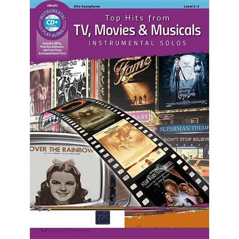 Top Hits from Tv, Movies & Musicals Instrumental Solos - (Top Hits Instrumental Solos) (Paperback) - image 1 of 1