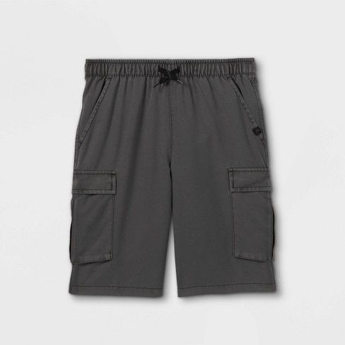 Boys' Pull-On Cargo Shorts - art class™ Gray - image 1 of 2