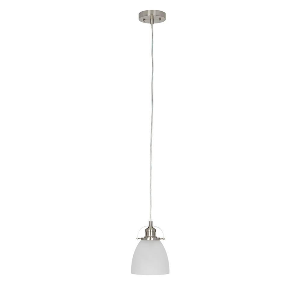 8 5 34 One Light Mini Pendant Brushed Nickel Cresswell Lighting