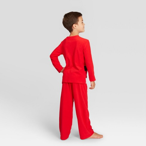 e7ce4fecbf Kids  Holiday Santa Pajama Set - Wondershop™ Red   Target