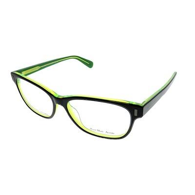 Marc by Marc Jacobs  7ZJ Unisex Rectangle Eyeglasses Black on Green 53mm