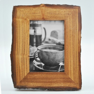 4 X6  Smooth Bark Edge Wood Frame Natural - Threshold™