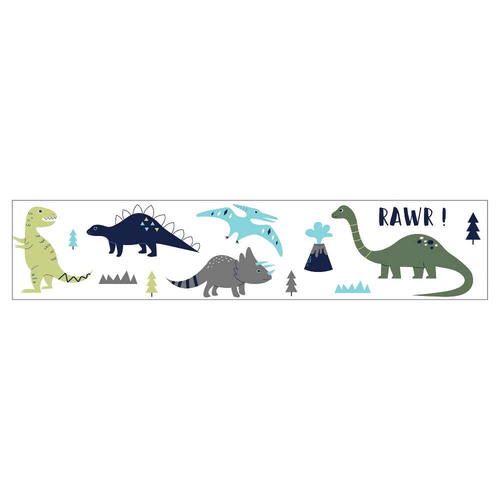Blue & Green Mod Dinosaur Wall Border - Sweet Jojo Designs