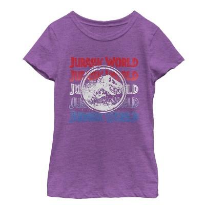 Girl's Jurassic World: Fallen Kingdom 4th of July Logo T-Shirt