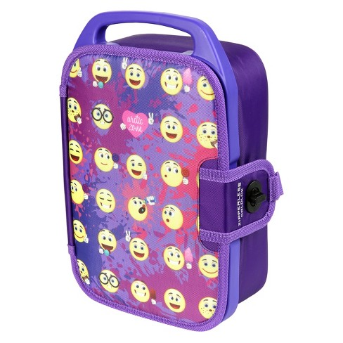 Arctic Zone Deluxe Zipperless Lunch Box - Emojis - image 1 of 2