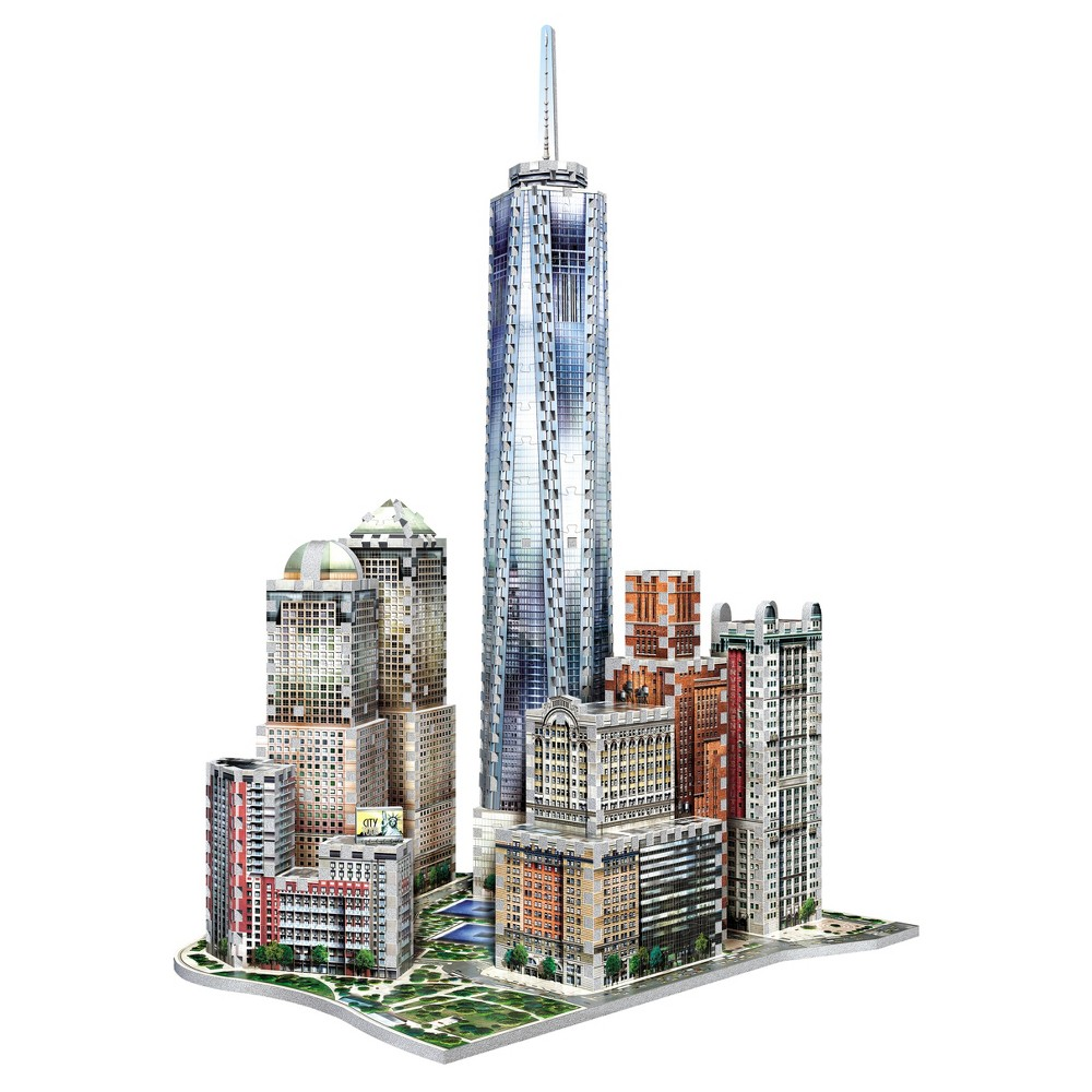Wrebbit - 3D New York World Trade 3D Puzzle, 875pc Complete the unique Wrebbit 3D - New York Collection with this 875 pieces 3D puzzle, including the tallest building of the Western Hemisphere, the One World Trade Centre. Surrounding this towering icon are other famous buildings and landmarks, comprising Brookefield Place (1985-87) and Battery Park. Combine all 4 puzzles of the New York Collection and get a 3D puzzle of over 875 pieces. Assembled dimensions: 14.96 inches L x 17.32 inches W x 23.03 inches H. For 14 years old to adults. Choking Hazard! Not for children under 3 years old. Wrebbit3D puzzles are the largest and have the highest piece count of their kind. Snug and tight fitting pieces that are easy to handle. They are the sturdiest 3D puzzles on the market. Highest quality of design and illustration. Made in Canada from non-toxic polyethylene foam. Warning: Choking Hazard - Small parts. Not for children under 3 yrs. Gender: Unisex.