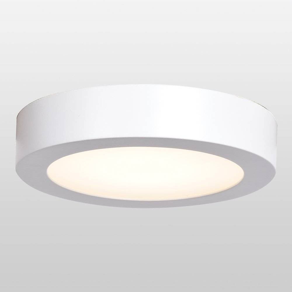"Image of ""Ulko Exterior 7"""" LED Outdoor Flush Mount Ceiling Light - Acrylic Lens Diffuser White - Access Lighting"""