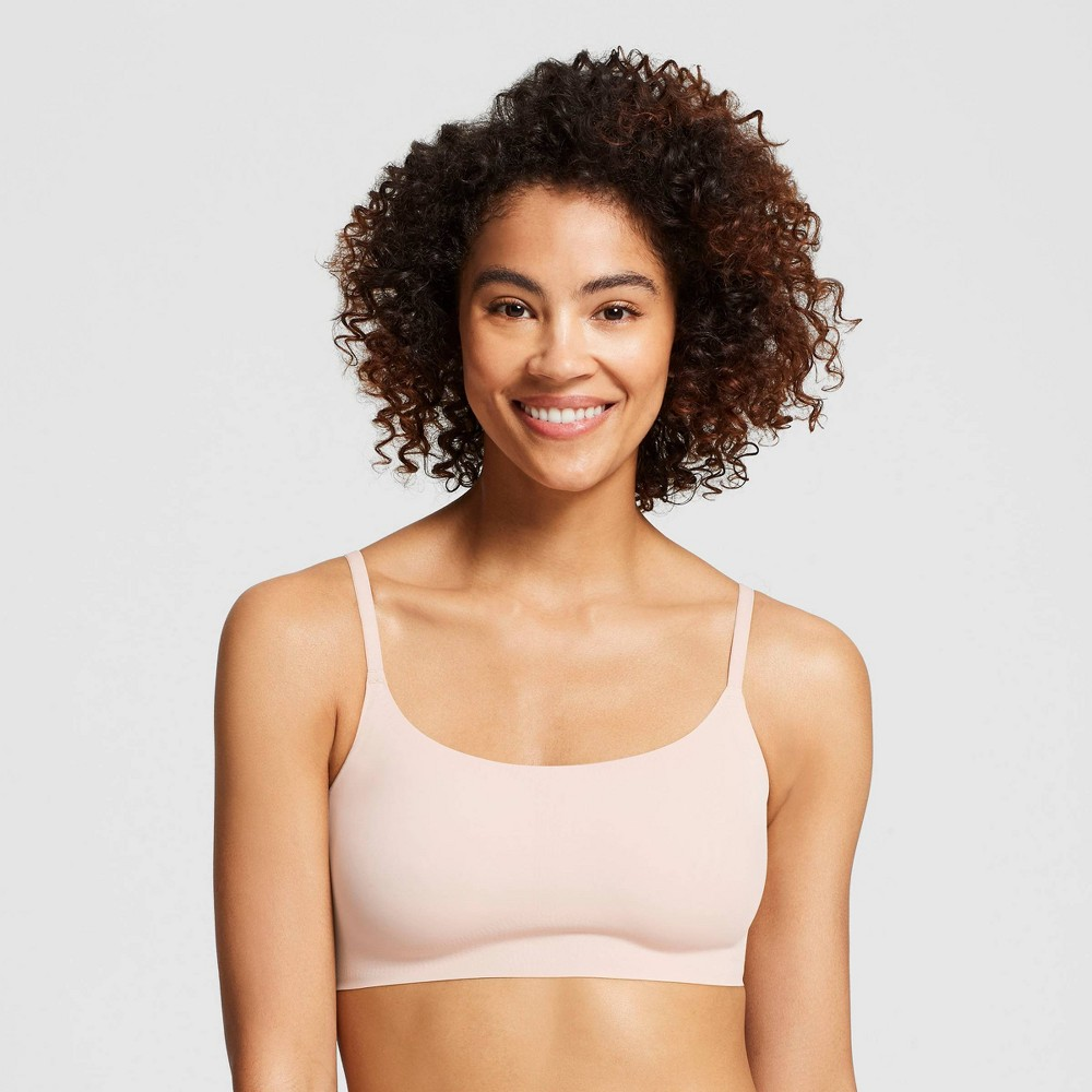 True & Co. True Everybody Women's Adjustable Strap Scoop Neck Bra - Nude M